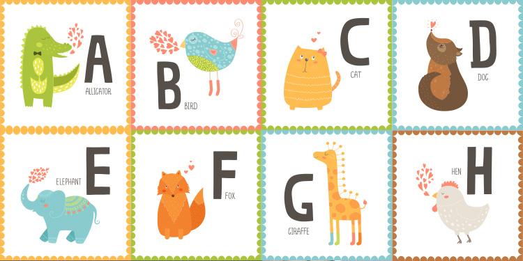 Fabuleux La carte blog : carte apprendre l'alphabet à vos enfants GX85