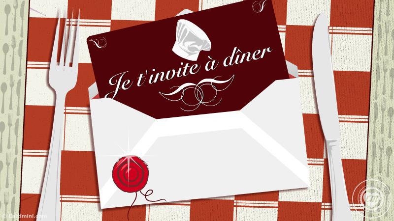 La carte faire part invitation carte invitation diner for Menu pour bon repas entre amis