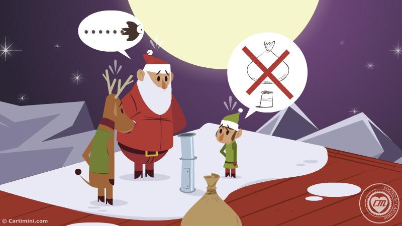 Carte De Noel Droles.La Carte Fête Carte Humour De Noel