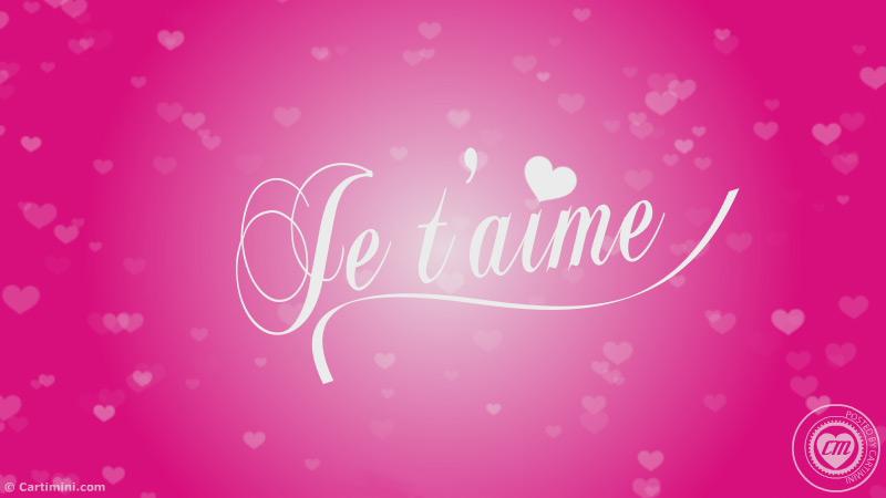 La Carte Amour Carte Je Taime Version Feux De Lamour