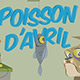 Carte Poisson d'avril